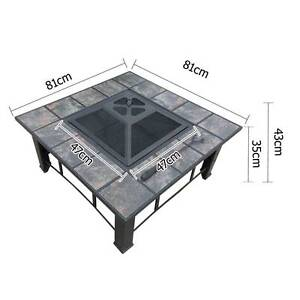 Outdoor Fire Pit BBQ Table Fireplace w/ Table Lid - free delivery Adelaide CBD Adelaide City Preview