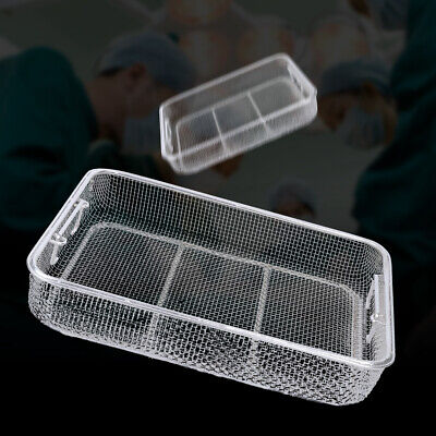 Instrument Tray Mesh Perforated Basket Sterilization Tray Stainless Steel Smooth