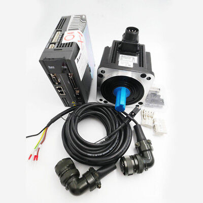Delta 1kw Ac Servo System Drive Motor 4.77nm Controller Kits 130mm 3m Cable A2