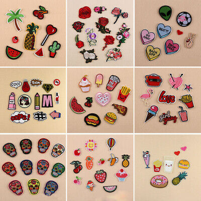 11 Style DIY Embroidered Iron on Patch Clothes Fabric Sticker Badge Applique Hot Hot Childrens Clothing