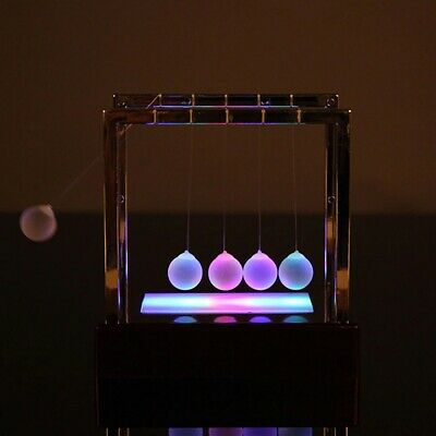 Newtons Cradle Balance Balls Led Light Up Pendulum Balls Education Decor Gift