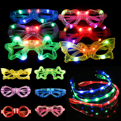 Glow LED Light Up Sunglasses Flashing Glasses Concert Rave Party Toy Accessories