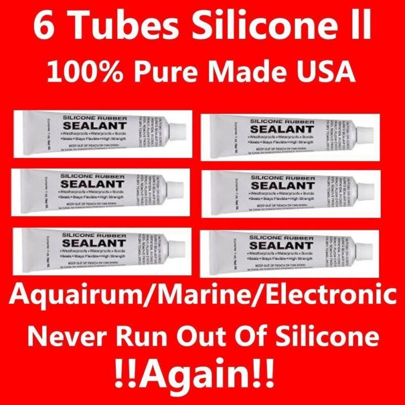 Fresh Tubes Food Grade Silicone Sealant Adhesive Clear 6 Ounces