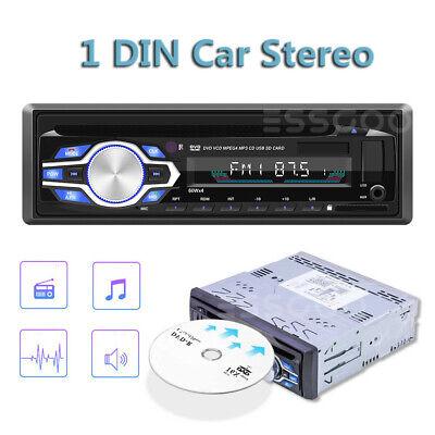 Single 1 Din Car DVD CD MP3 Player Audio FM Stereo In-dash USB/AUX/SD Radio BT