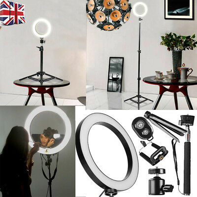 LED Dimmable Ring Light Studio Photo Video Live Lamp+Camera Phone holder+Tripod