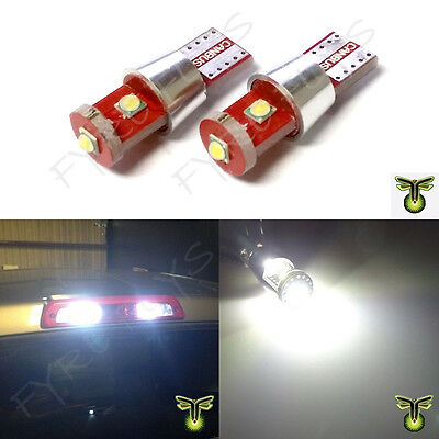 2x white 3-LED 9 watt CREE XBD LED truck cargo area bed third brake lights #R6
