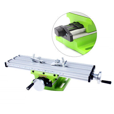 Milling Machine Work Table Cross Slide X Y Axis Bench Vise Drill Machine