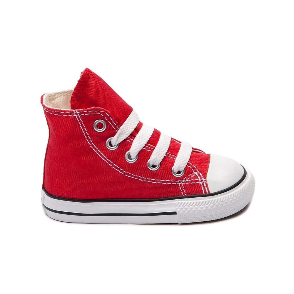 Converse All Star Hi Chucks Infant Toddler Red Canvas Shoe 7J232 FreeShipping 1