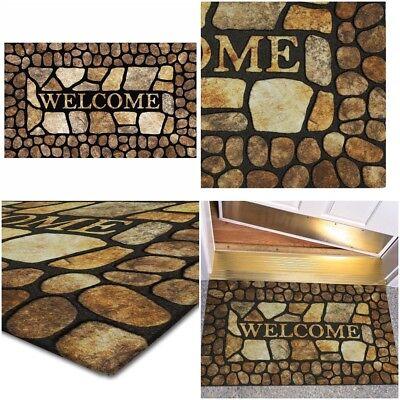 Welcome Door Mat Outdoor Indoor Rug Entrance Carpet Doormat