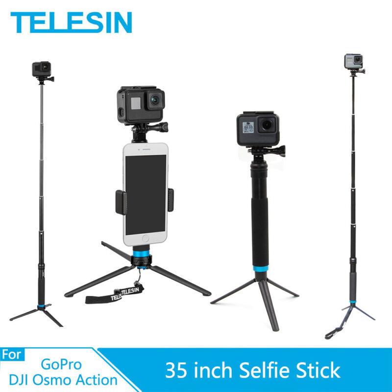 TELESIN Selfie Stick Tripod Multiple Types For GoPro HERO10 9 8 7 6 Osmo Action