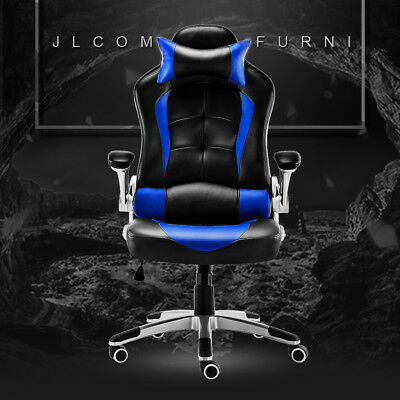 Used, Racing Gaming Chair Faux Luxury PU Sport Home Office Swivel High Back Soho Sale for sale  Shipping to Ireland
