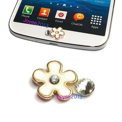 New Cute Simple Flower Home Button Sticker For Samsung Galaxy S5 S4 S3 Mini
