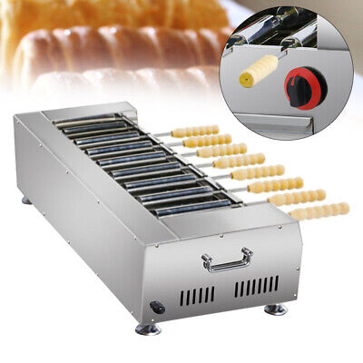 New Type Dessert Oven Grill Machine Lpg Gas W8pcs Rollerwooden Handle 2800pa