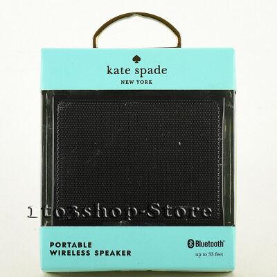 Kate Spade Wireless Bluetooth Portable Speaker w/Bass Black Cream Dot NEW IN BOX