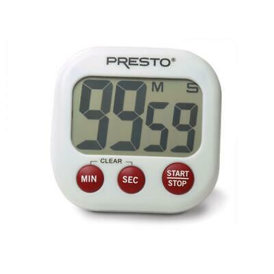 Presto 04214 Electronic Big Digital Timer, White **NEW**