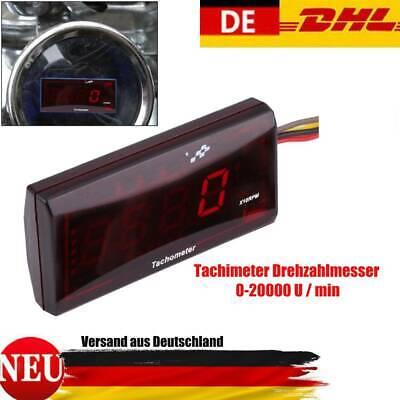 Motorrad LED Digital Tachometer Drehzahlmesser für Honda Yamaha Kawasak Rot, gebraucht gebraucht kaufen  Deutschland
