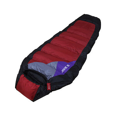 Premium Goose Down Sleeping Bag D3-DUKE Hiking Camping With Carrying Case Brand