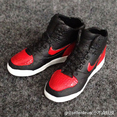 "1/6 scale female NIKEAIR red Sport Sneaker Basketball shoes fit 12"" figure body"