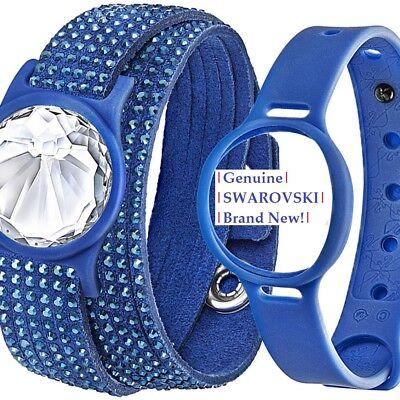 Swarovski Slake Crystal Activity Tracking Jewelry Set Blue New In Gift Box