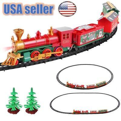 2020 Electric Christmas Train Track Set Light Musical Sound-Around Tree Kids Toy