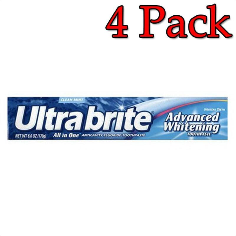 Ultra Brite Advanced Whitening Toothpaste, Mint, 6oz, 4 Pack 035000566850T135