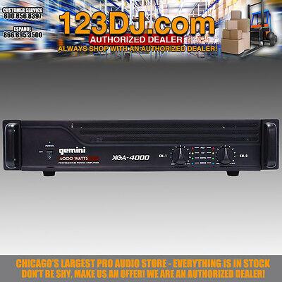 Gemini XGA-4000 Professional Power Amplifier 4000W Rack PA Amp XGA4000