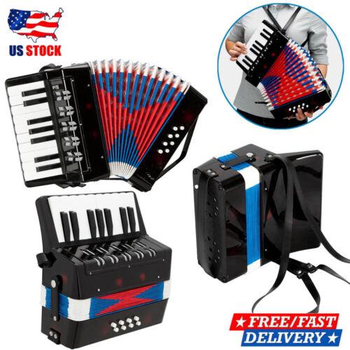 17 Key 8 Bass Mini Accordion Musical Instrument Rhythm Toy For Kids/Student