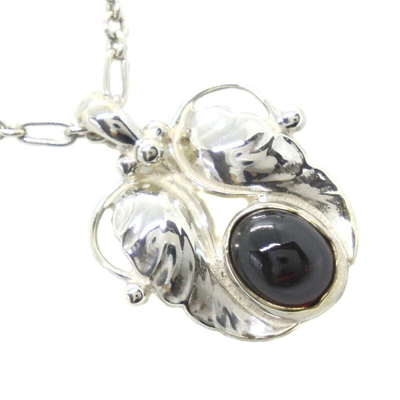 Georg Jensen Necklace Pendant 1994 Sterling Silver Denmark Jewelry #13669