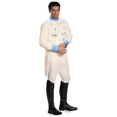White Man Halloween Costume (Mens Prince Charming Deluxe Halloween)