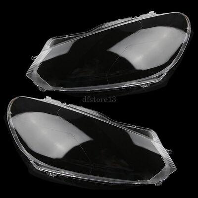 Lens Headlight Cap - Pair Clear Headlight Lens Plastic Shell Cover Cap For 2010-2013 VW Golf MK6 GTI