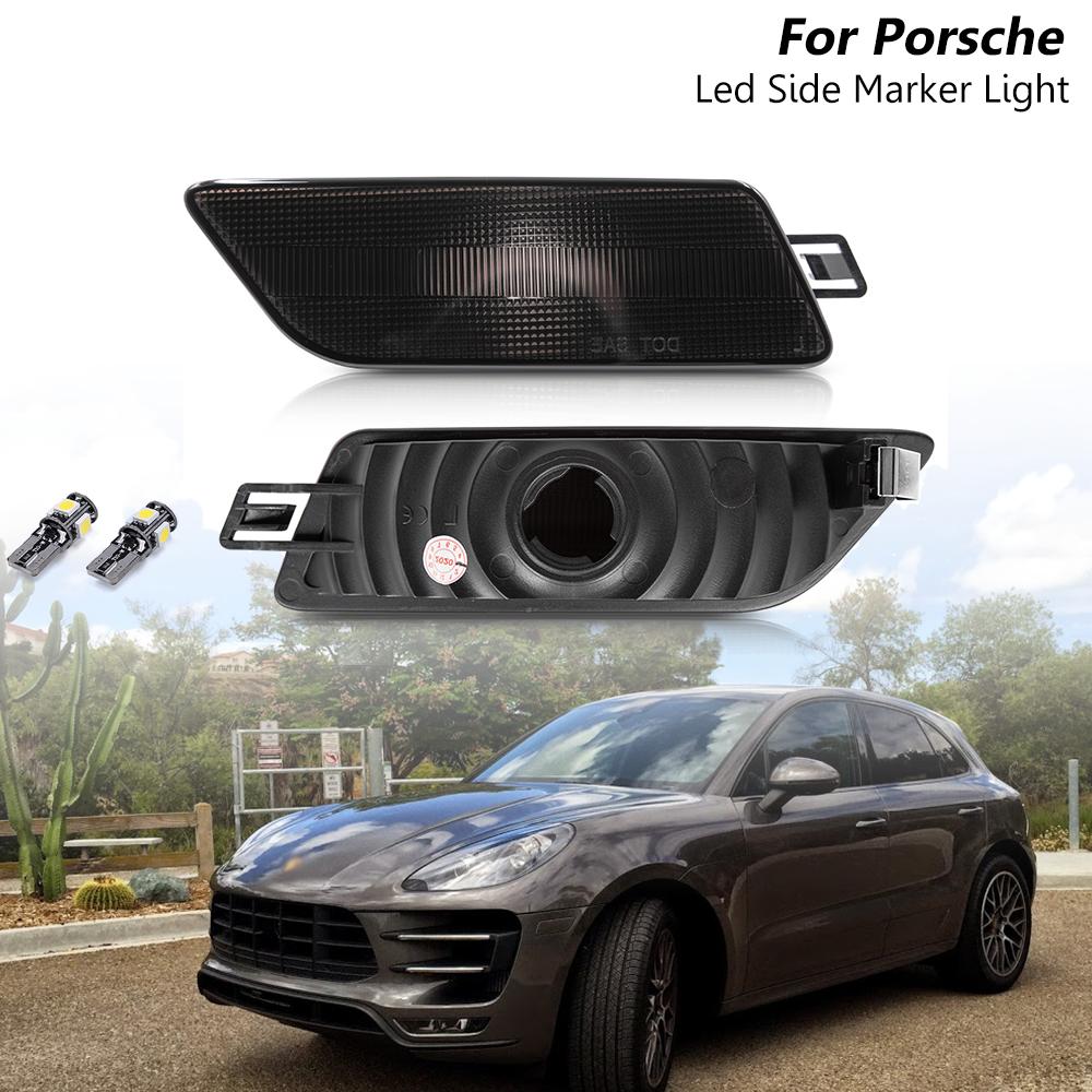 Smoked White Led Bulb OEM Side Marker Light Housing For Porsche Macan 2014-2020