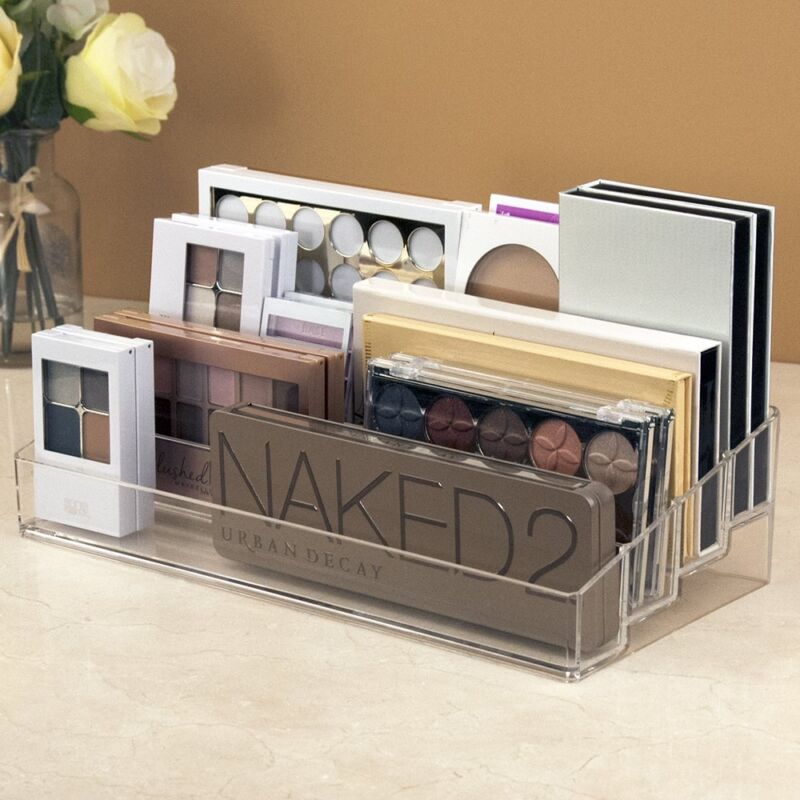 Clear Makeup Palette Organizer Cosmetics Storage Multi ...