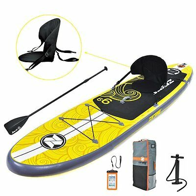 "Zray X1 Inflatable Stand-Up Paddle Board 9'9"" Long Pump/Paddle/Backpack Included"