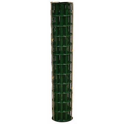 WELDED WIRE YARD GUARD FENCE GREEN VINYL COATED 2″ x 4″, 6' HIGH x 50' 14ga