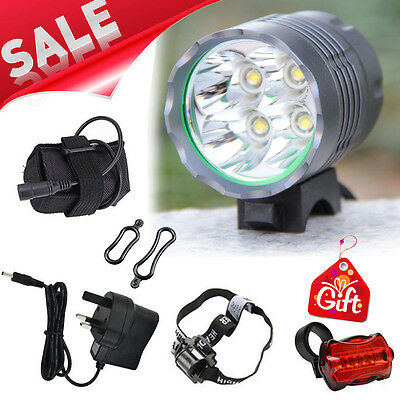 5200LM 4 Cree XML T6 LED MTB Mountain Bicycle Bike Front Lights Headlight Lamp