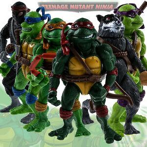 6 Stück Teenage Mutant Ninja Turtles Figur Aktion Figuren Actionfigur TMNT Toys