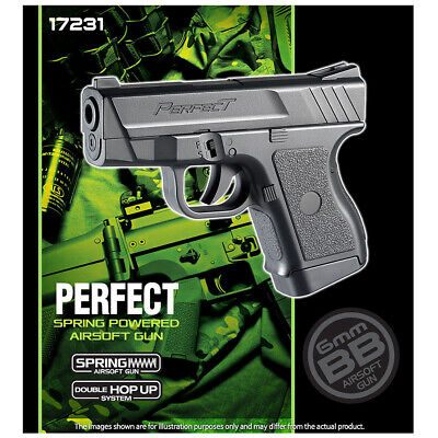 Academy Perfect Air Hand Gun Pistol Airsoft BB Replica Full Size Toy 17231 +Free