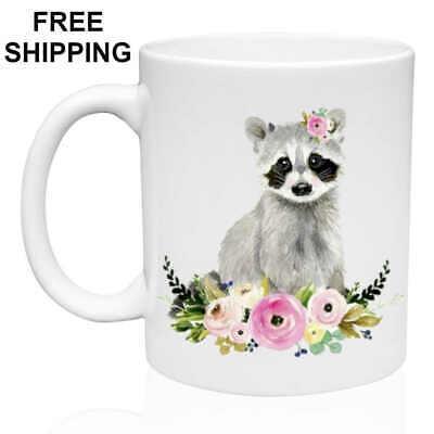 Sweet Baby Raccoon, Birthday, Christmas Gift, White Mug 11 oz, Coffee/Tea Sweet Baby Gift