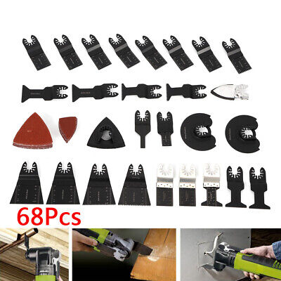 Multi Function Oscillating Tool Saw Blades Kit For Fein Multimaster Makita 68pcs