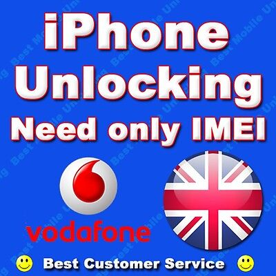 FACTORY UNLOCKING IPHONE 6S SE VODAFONE UK CLEAN NOT BARRED IMEI