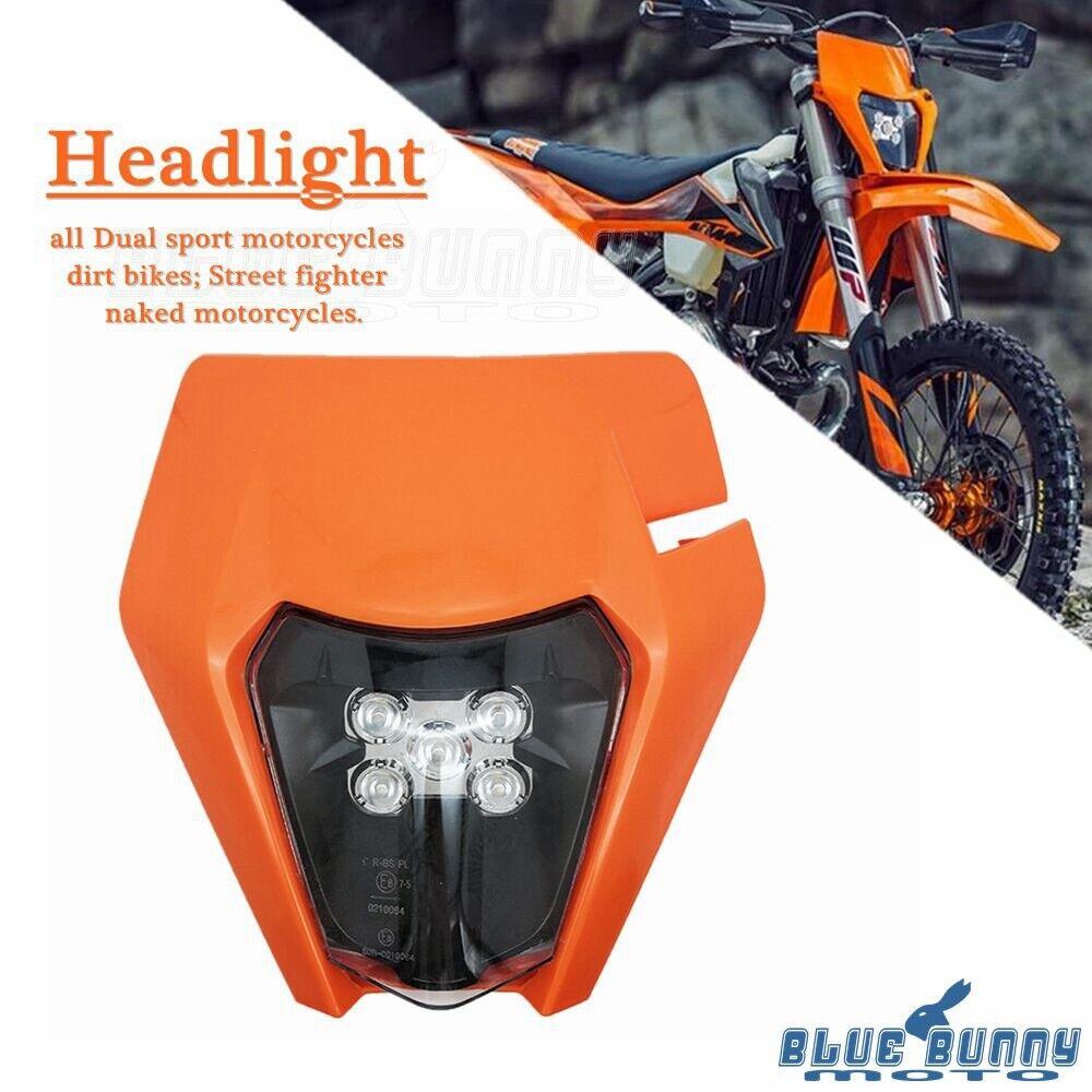 Dirt Bike LED Headlight For EXC XCW XC SX SXF XCF 250 350