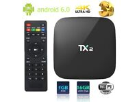 TX2 RK3229 Quad Core 4K Android 6.0 TV BOX 2G+16G 2.4GHz WiFi HD Media Player