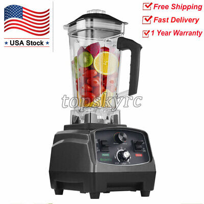 2l Commercial Blender W Timer 2200w Bpa-free Fruit Juicer Variable Speeds Topus
