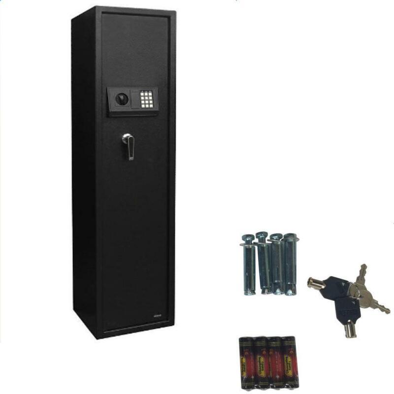New Large 5 Rifle Digital Gun Safe Electronic Lock Storage Steel Cabinet Firearm