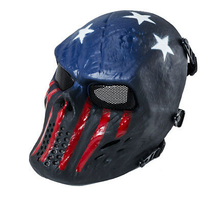 airsoft paintball tactical full face mask combat