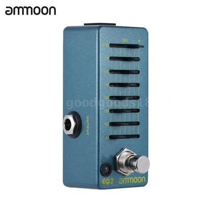 7 Band Equalizer Pedal - ammoon EQ7 Guitar Equalizer Effect Pedal 7-Band EQ Alloy Body True Bypass Hot