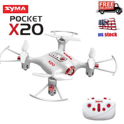 SYMA X20 Pocket Drone Mini RC Quadcopter 2.4Ghz 4CH Altitude Hold Headless Mode