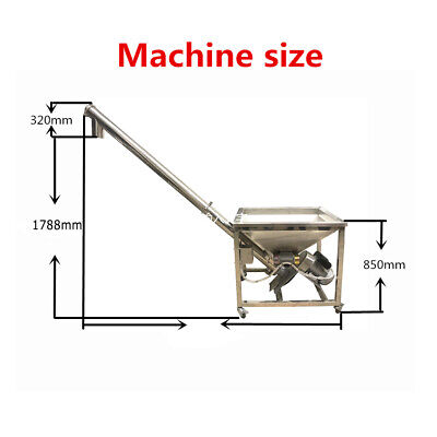 Customized Powder Screw Vibrating Hopper Inclined Conveyor Machine Auger Feeder