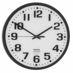 SKILCRAFT 12 Quartz Plastic Slimline Analog Wall Clock,  6645-01-046-8849
