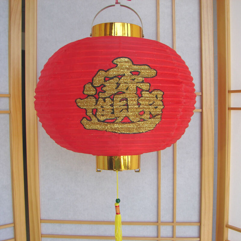"""12"""" Chinese Nylon Red Lanterns for Party and New Year"""